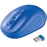 Trust 20786, Ambidextrous, Optical, RF Wireless, 1600 DPI, Blue