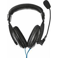 Trust 21661, Headset, Head-band, Calls & Music, Black, Binaural, In-line control unit