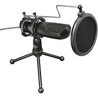 Trust GXT 232 Mantis, PC microphone, 50 - 16000 Hz, Omnidirectional, Wired, USB, Black