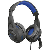 Trust GXT 307B Ravu Gaming Headset for PS4, Headset, Head-band, Gaming, Black, Blue, Binaural, In-line control unit