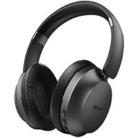 Trust 23550, Headset, Head-band, Music, Black, Binaural, Play/Pause, Volume +, Volume -