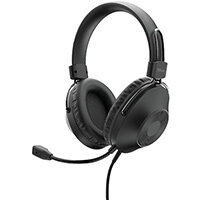 Trust HS-250, Headset, Head-band, Calls & Music, Black, Binaural, In-line control unit