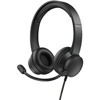 Trust HS-200, Headset, Head-band, Office/Call center, Black, Binaural, Rotary