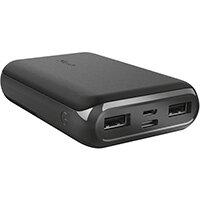 Trust 23769, Black, Headphones/Headset, Mobile phone/Smartphone, Tablet, Rectangle, Status, Lithium Polymer (LiPo), 10000 mAh