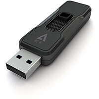V7 16GB USB 2.0 Flash Drive - With Retractable USB connector, 16 GB, USB Type-A, 2.0, 10 MB/s, Slide, Black