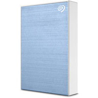 """Seagate One Touch - External Hard Drive, Portable - 1TB (1000 GB) - 2.5"""" - Ultra Fast USB 3.2 - micro USB Connector - Windows & Mac Compatible - Colour: Light Blue STKB1000402"""