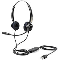 Urban Factory USB HEADSET WITH REMOTE CONTROL, Headset, Head-band, Black, Button, 2.1 m, Black