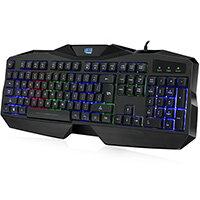 Adesso Gaming Illuminated Keyboard, Wired, USB, Membrane, QWERTY, RGB LED, Black