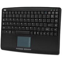 Adesso SlimTouch 410 - Mini Touchpad Keyboard (Black, USB), Mini, Wired, USB, Membrane, QWERTY, Black