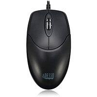 Adesso iMouse M6 - Optical Scroll Mouse, Ambidextrous, Optical, USB Type-A, 1000 DPI, Black
