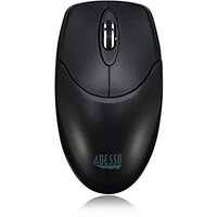 Adesso iMouse M40 - 2.4GHz Wireless Optical Mouse, Ambidextrous, Optical, RF Wireless, 1200 DPI, Black