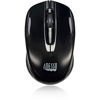 Adesso iMouse S50 - 2.4GHz Wireless Mini Mouse, Ambidextrous, Optical, RF Wireless, 1200 DPI, Black