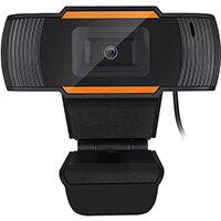 Adesso CyberTrack H2, 640 x 480 pixels, 30 fps, M-JPEG, USB 2.0, Black, Orange, Clip