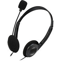 Adesso Xtream H4 - Stereo Headphone/Headset with Microphone, Headset, Head-band, Office/Call center, Black, Binaural, Rotary