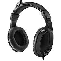 Adesso Xtream H5 - Multimedia Headphone/Headset with Microphone, Headphones, Head-band, Black, Rotary, 1.8 m, China