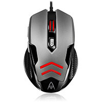 Adesso Multi-Color 6-Button Gaming Mouse, Right-hand, Optical, USB Type-A, 3200 DPI, Black, Grey