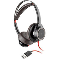 POLY Blackwire 7225 Headset Head-band USB Type-A Black, Red