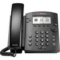 POLY 301 Skype for Business IP phone Black 6 lines LCD