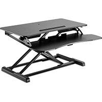 V7 Sit-Stand Essential Desktop Workstation, Black, MDF, 15 kg, Steel, Plastic, China