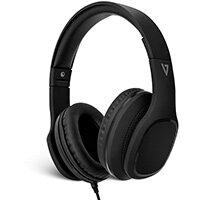 V7 Over-Ear Headphones with Microphone - Black, Headphones, Head-band, Calls & Music, Black, Digital, 1.8 m