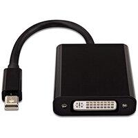 V7 Black Video Adapter Mini DisplayPort Male to DVI-D Male, Mini DisplayPort, DVI, Male, Female, Black, China