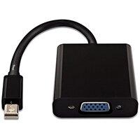 V7 Black Video Adapter Mini DisplayPort Male to VGA Female, 1, VGA (D-Sub) output, 1920 x 1200 pixels