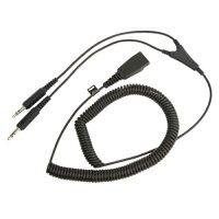 Jabra 8734-599 Audio Cable - Jabra Quick Disconnect Audio - Second End: 2 x Audio Jack 3.5mm Connector - Y Cable Extension
