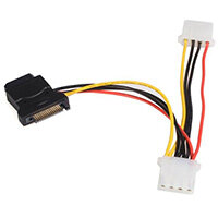 StarTech.com SATA to LP4 Power Cable Adapter with 2 Additional LP4, 0.153 m, SATA 15-pin, Molex (4-pin), Black, 45.5 g, 4 mm