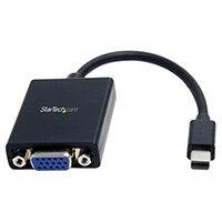 StarTech.com Mini DisplayPort to VGA Video Adapter Converter, 0.13 m, 1920 x 1200 pixels, 720p,1080p, Black, Active video converter, RoHS, CE, FCC