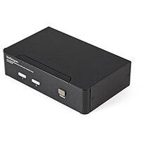 StarTech.com 2 Port USB HDMI KVM Switch with Audio and USB 2.0 Hub, 1920 x 1200 pixels, Full HD, 18 W, Black