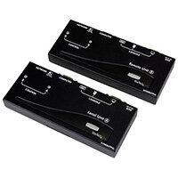 StarTech.com Long Range USB VGA KVM Console Extender over Cat5 UTP - 1000 ft, Transmitter & receiver, Wired, 300 m, 1920 x 1200 pixels, Hotkeys, Push-buttons, Black