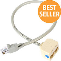 StarTech 2-to-1 RJ45 Splitter Cable Adapter Network splitter RJ-45 M RJ-45 F RJ-45 Male RJ-45 Female RJ45SPLITTER