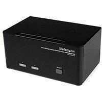 StarTech.com 2 Port Triple Monitor DVI USB KVM Switch with Audio & USB 2.0 Hub, 1920 x 1200 pixels, 18 W, Black