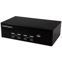 StarTech.com 4-port KVM Switch with Dual VGA - USB 2.0, 1920 x 1200 pixels, Black