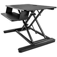 """StarTech.com Sit Stand Desk Converter with Keyboard Tray - Large 35"""" x 21"""" Surface - Height Adjustable Ergonomic Desktop/Tabletop Standing Workstation - Holds 2 Monitors - Pre-Assembled, Black, 76.2 cm (30""""), 56 cm, 12.7 kg, 2.3 kg, Rectangular shape"""