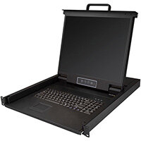 """StarTech.com Rackmount KVM Console - Single Port VGA KVM with 19"""" LCD Monitor for Server Rack - Fully Featured Universal 1U LCD KVM Drawer w/Cables & Hardware - USB Support - 50,000 MTBF, 48.3 cm (19""""), 1280 x 1024 pixels, 250 cd/m², 1000:1, 176°, 170°"""