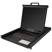 """StarTech.com 8 Port Rackmount KVM Console w/ 6ft Cables - Integrated KVM Switch w/ 19"""" LCD Monitor - Fully Featured 1U LCD KVM Drawer- OSD KVM - Durable 50,000 MTBF - USB + VGA Support, 48.3 cm (19""""), 1280 x 1024 pixels, TFT LCD, 250 cd/m², 1000:1, 0.264"""
