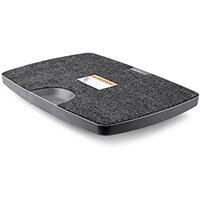 StarTech.com Balance Board for Standing Desks or Sit-Stand Workstations, Grey, Plastic, 136 kg, 4.5 - 9.4°, RoHS, CE, REACH, 350 mm