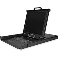 """StarTech.com 8 Port Rackmount KVM Console w/ 6ft Cables - Integrated KVM Switch w/ 17"""" LCD Monitor - Fully Featured 1U LCD KVM Drawer- OSD KVM - Durable 50,000 MTBF - USB + VGA Support, 43.2 cm (17""""), 1280 x 1024 pixels, TFT LCD, 250 cd/m², 1000:1, 170°"""