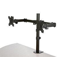 "StarTech.com Desk Mount Dual Monitor Arm - Desk Clamp / Grommet VESA Monitor Mount for up to 32 inch Displays - Ergonomic Articulating Monitor Arm - Height Adjustable/Tilt/Swivel/Rotating, Clamp, 16 kg, 81.3 cm (32""), 100 x 100 mm, Height adjustment, Blac"