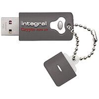 Integral Crypto Encrypted USB 3.0 32GB Flash Drive INFD32GCRY3.0197