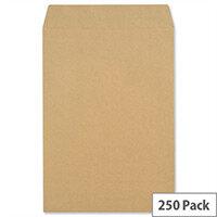 New Guardian Pocket Envelopes 381x254mm 130gsm Manilla Self Seal Pack of 250