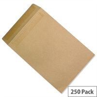 C4 Heavyweight Manilla Envelopes Pocket 115gsm Press Seal Pack 250 5 Star Ref J90013