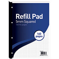 Hamelin 5mm Squared Refill Pad A4 80 Sheet Pack of 5 400127678