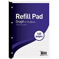 Hamelin 2-10-20mm Graph Refill Pad A4 80 Sheet Pack of 5 400127712