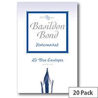 Basildon C6 Blue Bond Small Envelopes Pack of 20