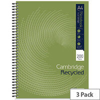 Cambridge Recycled A4 Notebook Plus 200 Pages 100080423