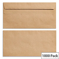 New Guardian DL Envelopes Self Seal Manilla 80gsm Pack of 1000 Ref H25411