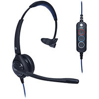 JPL 501S-USB Professional Monaural Customer Service Headset Noise Cancelling Microphone Black 501S