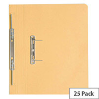 Guildhall Yellow Transfer File Foolscap Pack of 25